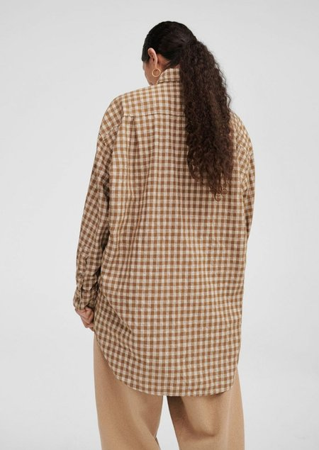 Mónica Cordera Checkered Shirt - Nougat