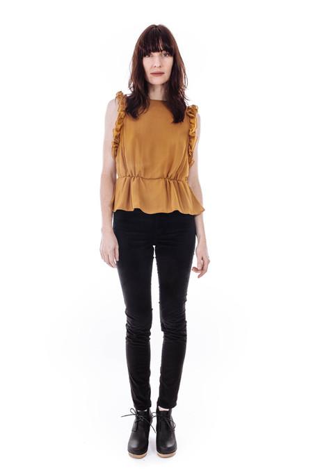 Heidi Merrick Buckwheat Top in Saffron