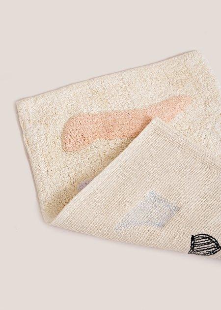 Cold Picnic Talking Rocks Bath Mat - cream