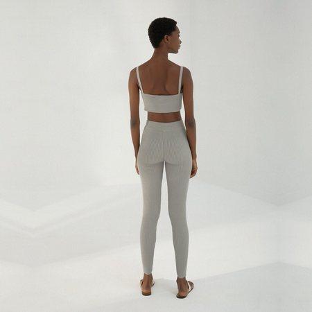 Mónica Cordera Ribbed Leggings - Silver Blue