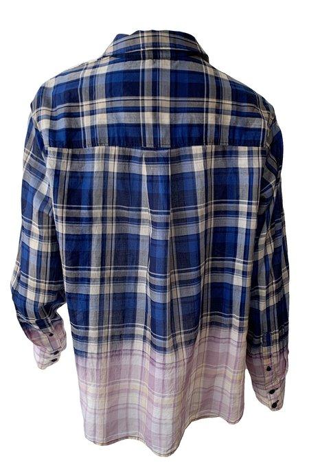 Rag & Bone Florian Cropped Plaid Shirt - Blue Plaid