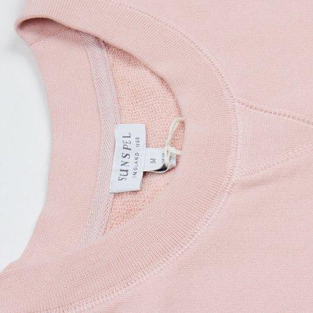Sunspel Loopback Sweatshirt - Dusty Pink