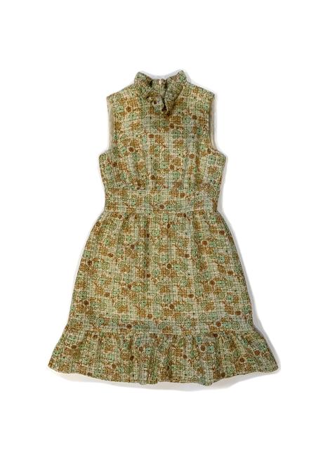 Anna Sui Flowers in the Field Sleeveless Dress - MINT MULTI