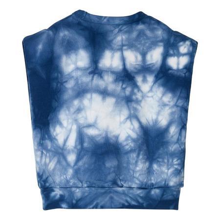 Kids Finger In The Nose Carol Sleeveless Sweatshirt - Cloud Blue Tie Dye
