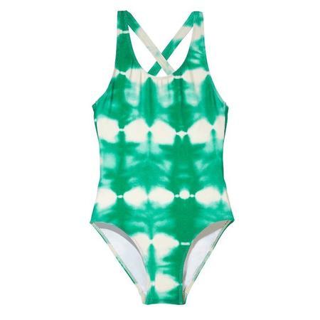 Kids Finger In The Nose Olivia Swimsuit - Green Tie Dye