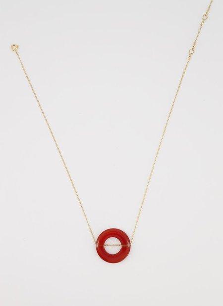 ADORN MONU RED CORNELIAN necklace - GOLD/BRONZE