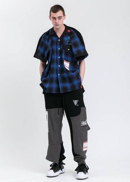 Mihara Yasuhiro Inset T-Shirt Pants - Black