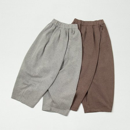 Mónica Cordera Warm Brushed Cotton Pants - Grey