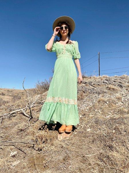 vintage HAPPY RETURNS PRAIRIE DRESS - green