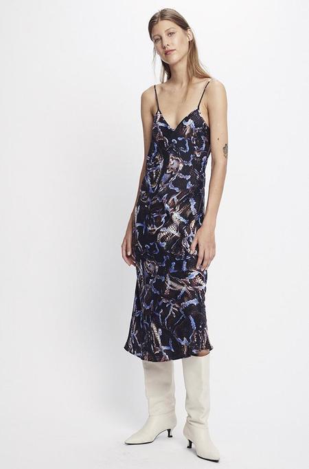 Silk Laundry 90S SILK SLIP DRESS - SNAKE