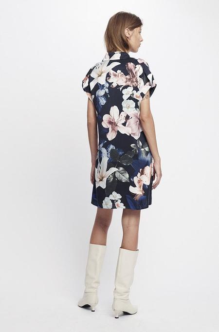 Silk Laundry DROP SHOULDER 60S DRESS - LILIES