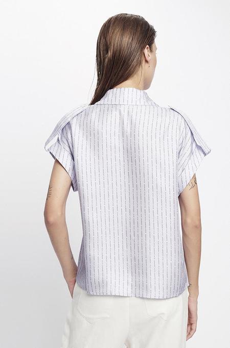 Silk Laundry DROP SHOULDER SHIRT - LILAC LOGO
