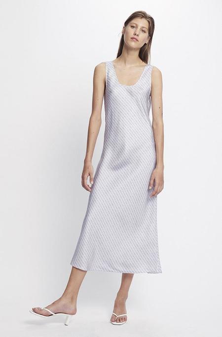 Silk Laundry SCOOP NECK BIAS DRESS - LILAC LOGO