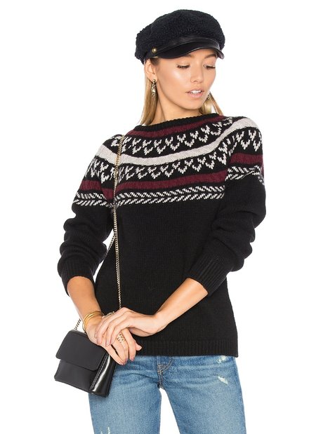 Anine Bing Holiday Knit sweater - black
