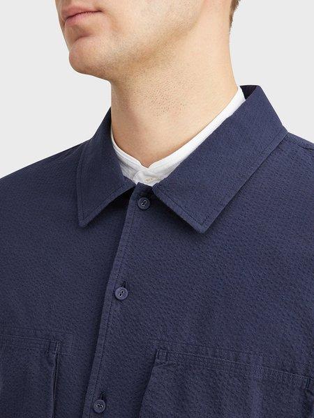 O.N.S Corsa Seersucker Shirt Jacket - Navy