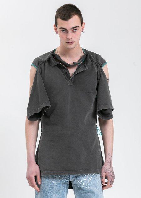 Y/project Convertible Polo - Acid Black