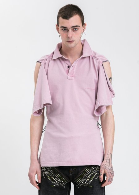 Y/project Convertible Polo - Pink