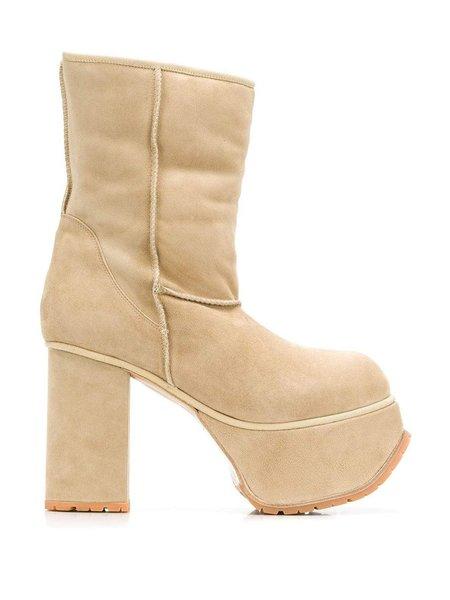 R13 Shearling Short Platform Boots