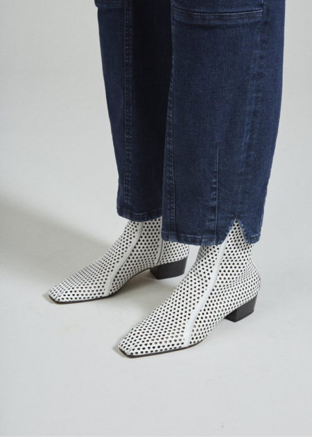 Rachel Comey Cove Pebbled Leather Boot - White Perf