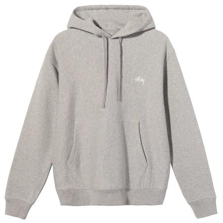 Stussy Stock Logo Hood sweater - Grey Heather
