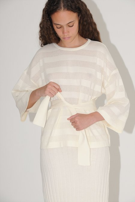 Diarte Isabel belted sweater - white