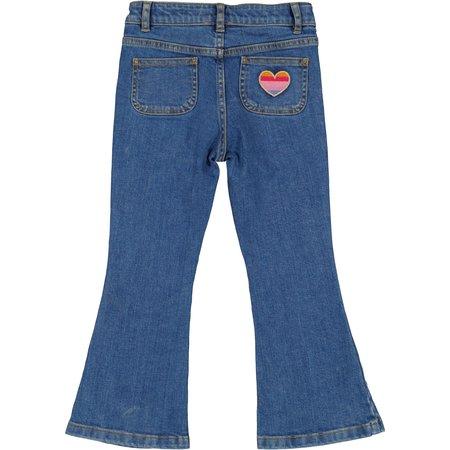 kids louis louise christie denim trousers - Blue