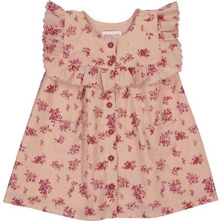 kids louis louise mirabelle baby dress - dark pink