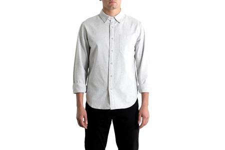 Bridge & Burn Jude shirt - Light Grey Donegal