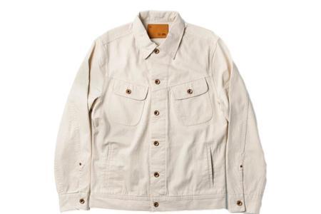 Taylor Stitch Long Haul Jacket - Natural Organic Selvage