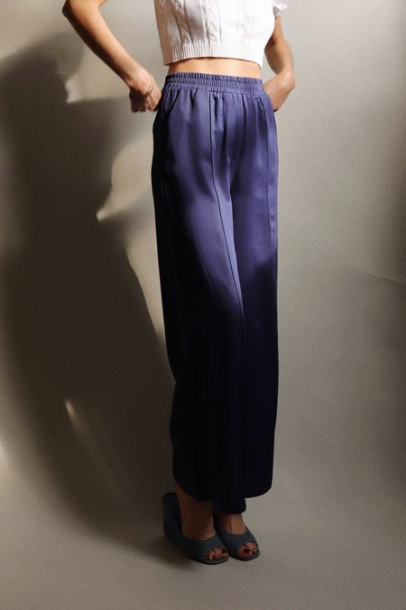 FRNCH Woven Wide Leg Pant - Navy
