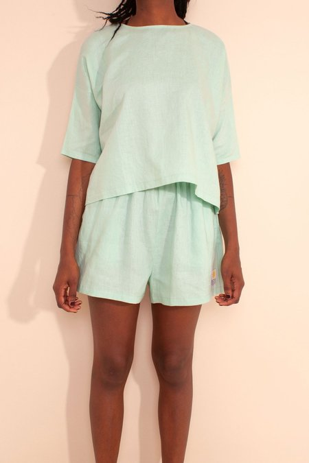 L.F.Markey Basic Linen Top - Jade