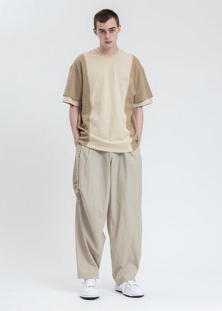 Komakino Twist Drill Sliced T-shirt - Beige