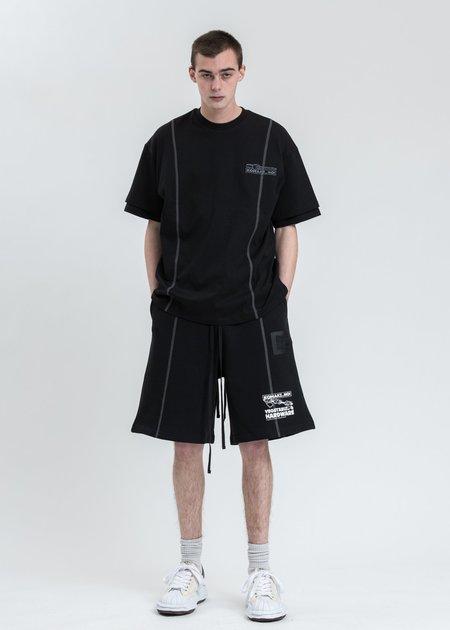 Komakino Twist Drill Sliced T-shirt - Black