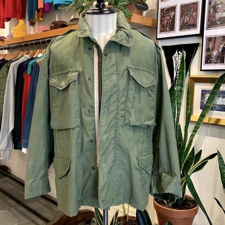 Vintage 1960s M-65 Field Coat - olive green