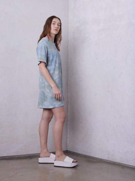 Raquel Allegra Jersey Tee Shirt Dress - Sky Camo