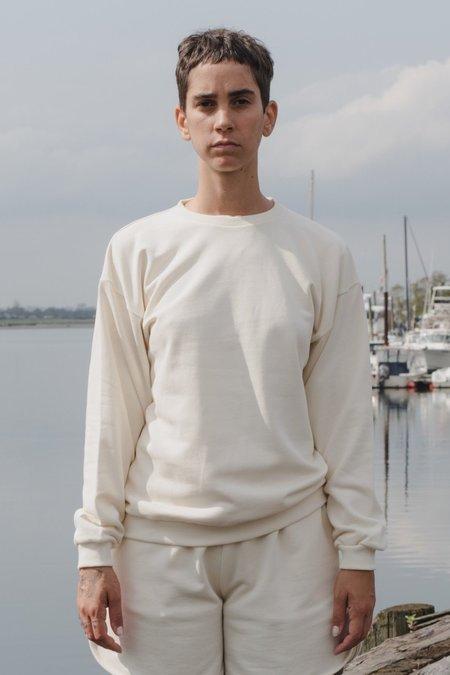 Baserange Loose Sweat Shirt - Off White