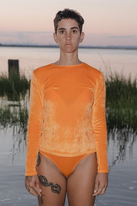 Baserange Omo Long Sleeve Tee - Isla Orange
