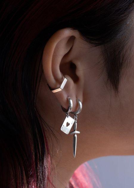 Futaba Hayashi Hex ear cuff - silver