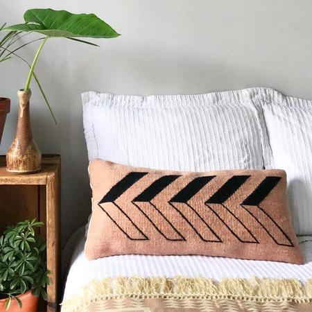 Agave Supply Frontera Small Lumbar Pillow Cover - Black