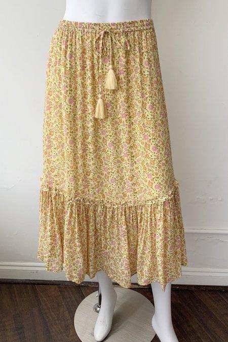 SPELL & THE GYPSY COLLECTIVE Rae Midi Skirt - Daisy Yellow