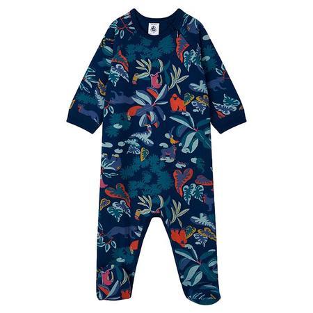 Kids Petit Bateau Baby Lanny Feet Pyjamas  - Navy Blue