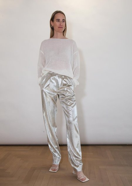 Roseanna Casino Taylor Pants - Metallic