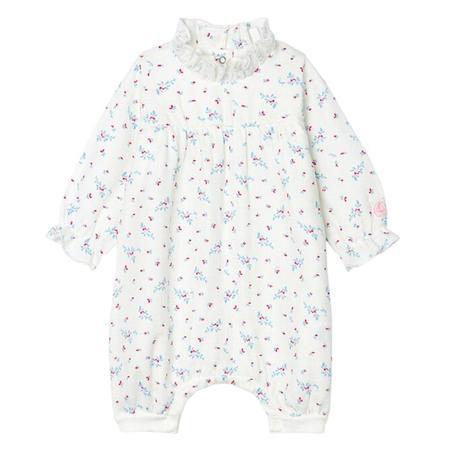 KIDS Petit Bateau Baby Floral Print Pyjamas - White
