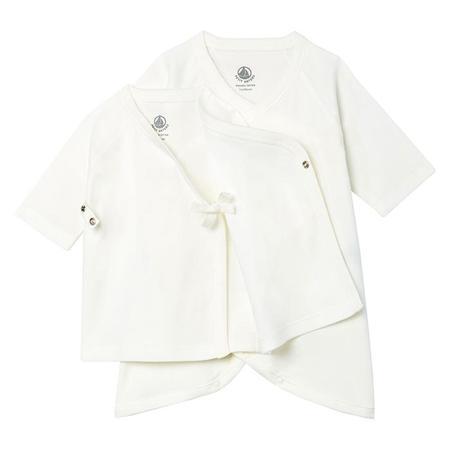 KIDS Petit Bateau Baby Two PIece Kimono Set - White