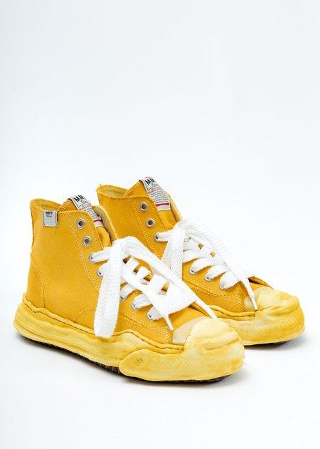 Mihara Yasuhiro OVERDYED ORIGINAL SOLE TOE CAP HIGH TOP SNEAKER - Yellow