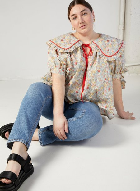 Eliza Faulkner Sawyer Top - White Floral