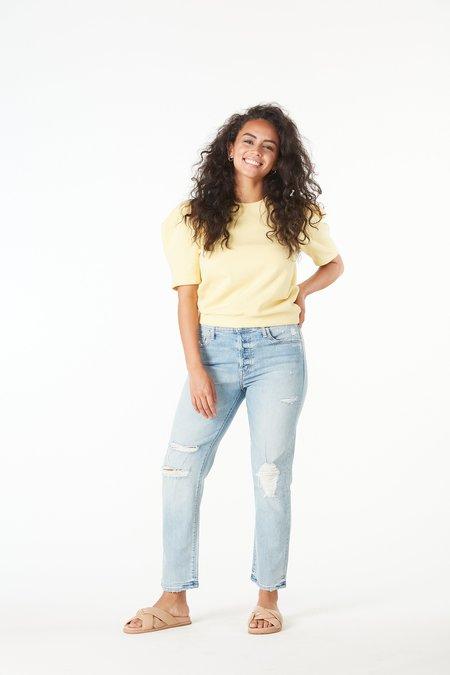 NATION LTD Olivia Short Sleeve Sweatshirt - CORNSILK
