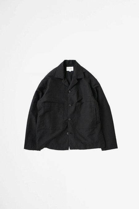 Still By Hand Open collar blouson - black