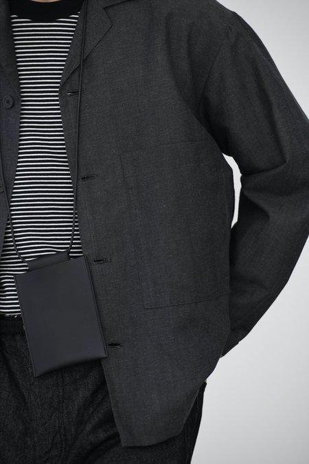 Still By Hand Striped half sleeve t-shirt - black