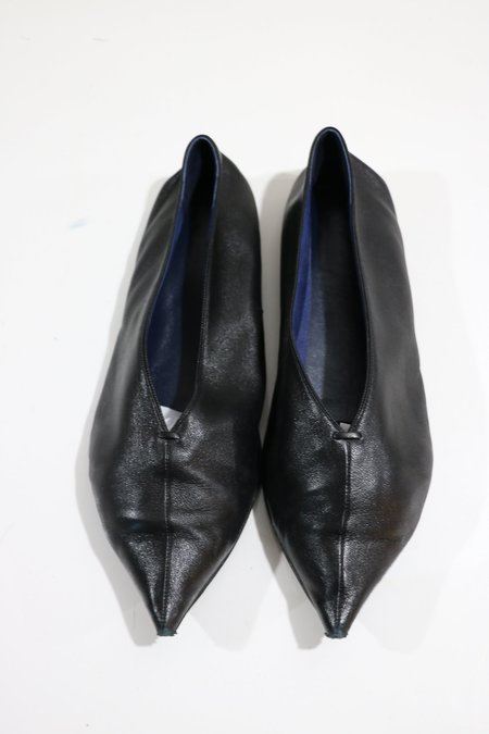 [Pre-loved] Celine Leather Pointed Toe Flats